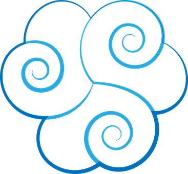 Cloud, Celtic, Blue, Illumination, Triskell, Symbol