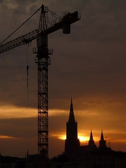 Baukran, Crane, Construction Sites, Build, Site