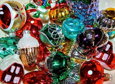 Christmas Ornamnets, Xmas, Decorations, Glass Bulbs
