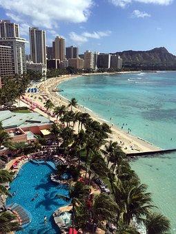Waikiki Beach, Hawaii, Diamond Head