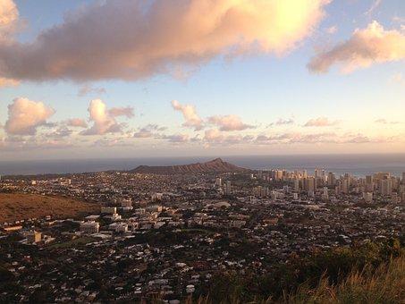 Waikiki, Oahu, Hawaii, Honolulu, Diamond, Head, Tourism