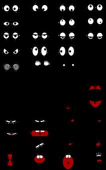Eyes, Fun, Mouth, Parts, Rolling Eyes, Laughing