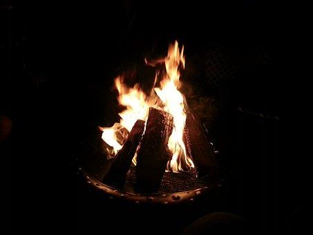 Fire, Backyard, Heat, Outdoors, Fire-pit, Burn, Burning