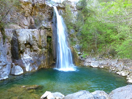 Ampola Cascata, Waterfall, Water, Flow, Valle Di Ledro