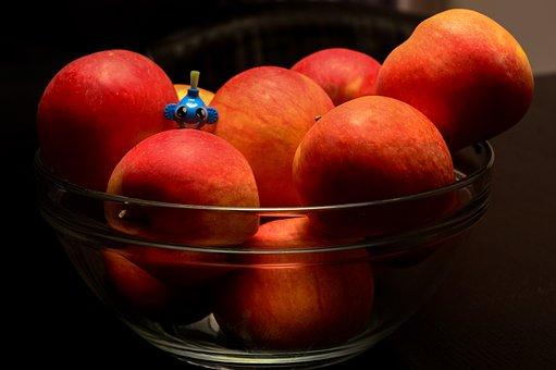 Apples, Bowl, Toy, Little, Figure, Fruit, Healthy