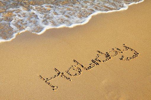 Beach, Golden, Holiday, Letter, Letters, Ocean, Sand