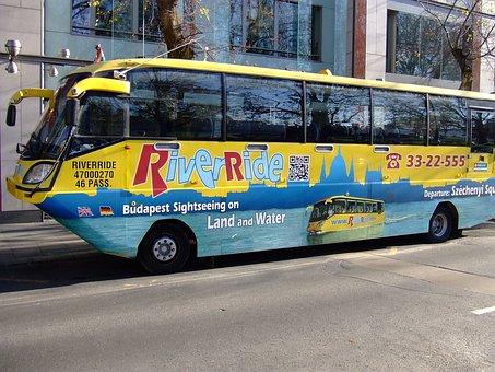 Bus, Swimming, Amphibian, Vehicle, Hermaphrodite
