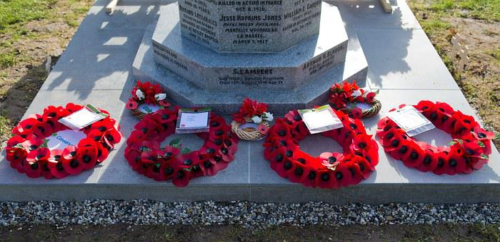Honouring The Fallen, War Memorial, Poppy Wreaths