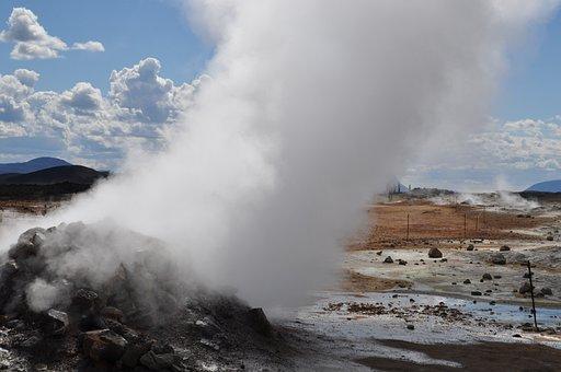 Iceland, Volcano, Volcanism, Swell, Hot, Sulfur, Geyser