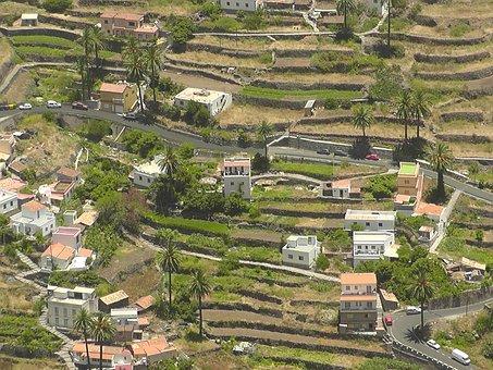 Village, Landscape, Terraces, La Reptiles