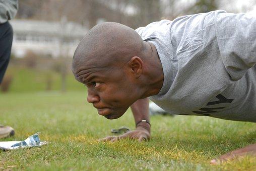 Man, Exercise, Pushups, Military, Training, Rigorous