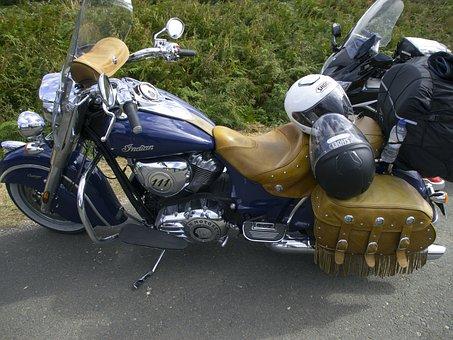 Indian Motorcycle, Moto, Parked, Design, Vehicle, Bike