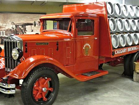 Antique, Brewing Delivery Truck, Museum, Canada