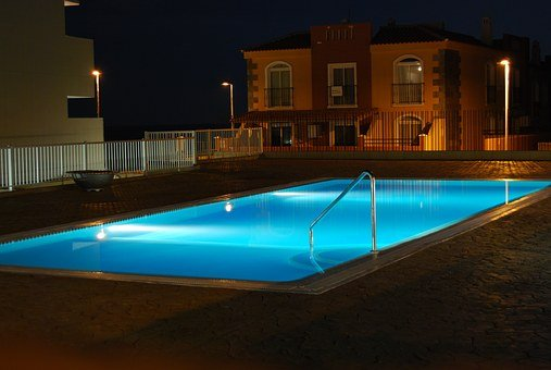 Weekend, Relax, Pool, Night, Blue, Holiday, Hotel