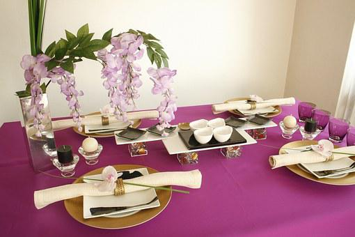 Wisteria, Table Coordination, Purple