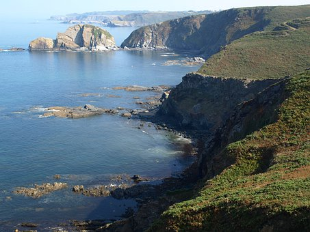 Bay Of Biscay, Rocks Out, Asturias, Costa, Nature