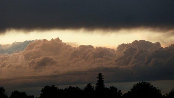 Abendstimmung, Thunderstorm, Cummulus Nimbus, Clouds