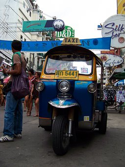 Tuktuk, Bangkok, Transport, Khao San Rd