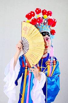 Beijing Opera, China, Quintessence, Fan, Clothing
