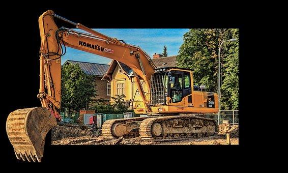 Excavators, Site, Construction Machinery, Demolition