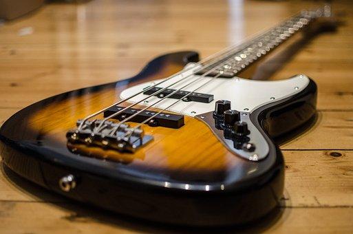 Bass Guitar, Bass, E Bass, Instrument, Strings