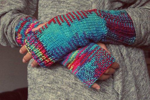 Hands, Gloves, Knitting, Winter, Fingers, Mixed