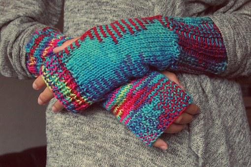 Hands, Gloves, Knitting, Winter, Fingers, Mixed