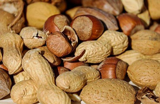 Hazelnut, Peanut, Almonds, Nuts, Nut Mix, Food