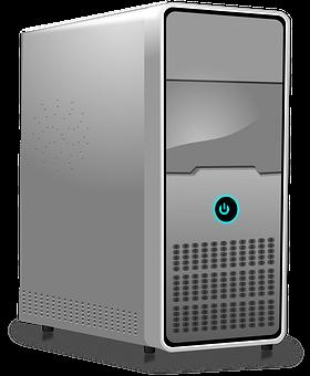 Computer, Server, Workstation, Hosting, Gray Server