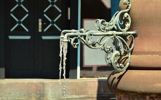 Fountain, Faucet, Water Fountain, Iron, Wrought Iron