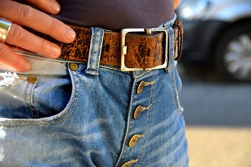 Belts, Buckle, Jeans, Buttons, Brass, Fashion