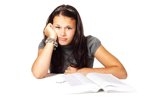 Book, Bored, College, Education, Female, Girl, Learn