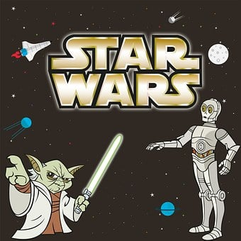 Robot, C3po, Master Yoda, Sword, Lightsaber, Planet