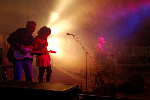 Concert, Van De Sfross, Stage, Guitar, Guitarist, Music