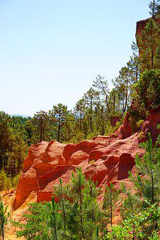 Ocher Rocks, Rock, Roussillon, Red, Yellow, Orange