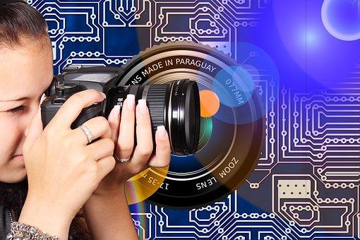 Photographer, Girl, Camera, Digital, Photography, Lens