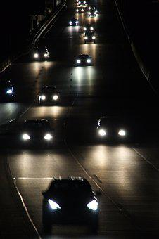 Pkw, Night, Light, Lights, Road, Vehicles, Traffic