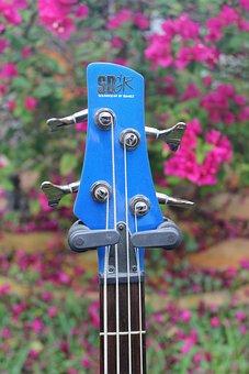 Guitar, Blue, Instrument, Music, Musician, Rock