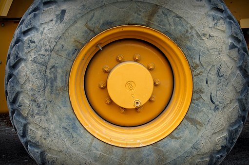 Wheel, Wheel Bearing, Gland, Rim, Excavators, Roll