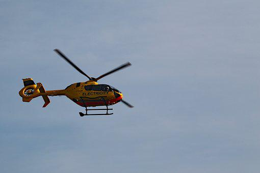 Helicopter, Low Flying, Flying, Aircraft, Rotor