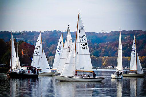 Lake, Sailing Boats, Water, Sail, Water Sports, Holiday