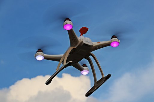 Drone, Uav, Sky, Clouds, Quadrocopter, Fly, Robot