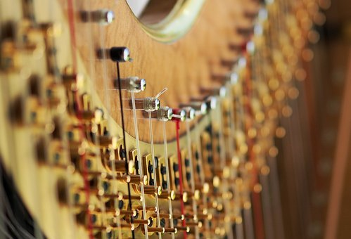 Harp, String, Tension, Concert, Classical, Stringed