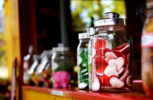 Fruit Jelly, Candy, Sweet, Heart, Candy-glass, Sugar