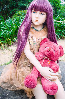 Doll, Looks Real, Toy, Silicone, Teddy Bear, Pink