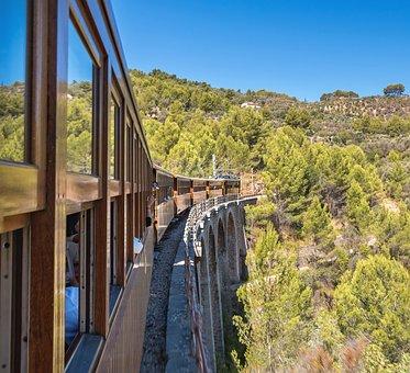Sóller, Train, Majorca, Travel, Transport