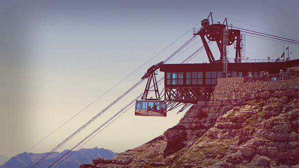 Ropeway, Cableway, Mountain, Alps, Tourism, Transport