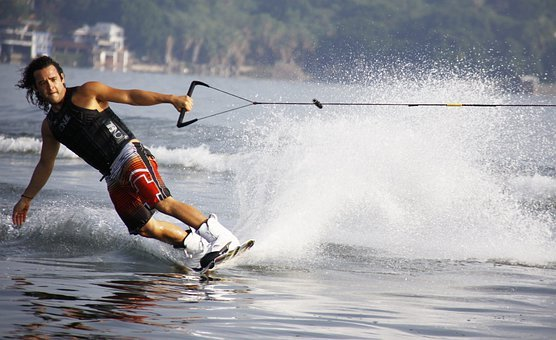 Mexico, Lake, Man, Wakeboard, Wake Boarding, Ski