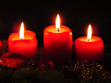 Advent Wreath, Candles, Flame, Christmas, Advent