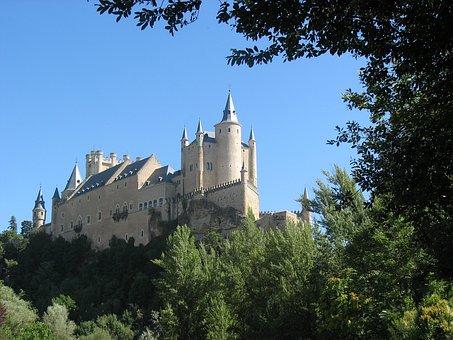 Castle, Segovia, Spain, Castillo Segovia, Alcazar